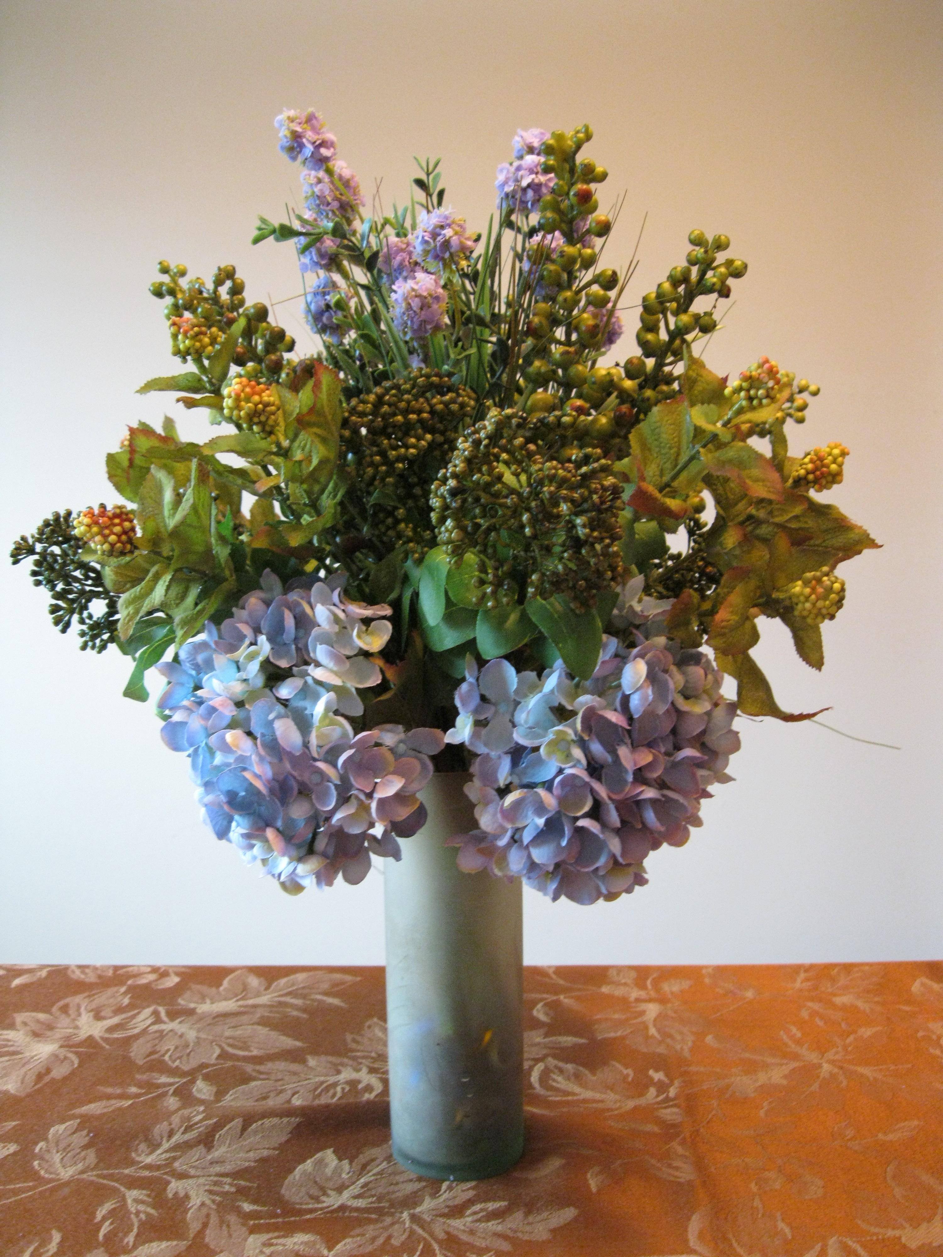 Silk flowers wedding flowers mixed flower buses custom flower hydrangea floral arrangement mightylinksfo