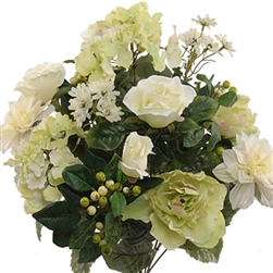 "20"" MIXED FLOWER CREAM GREEN"